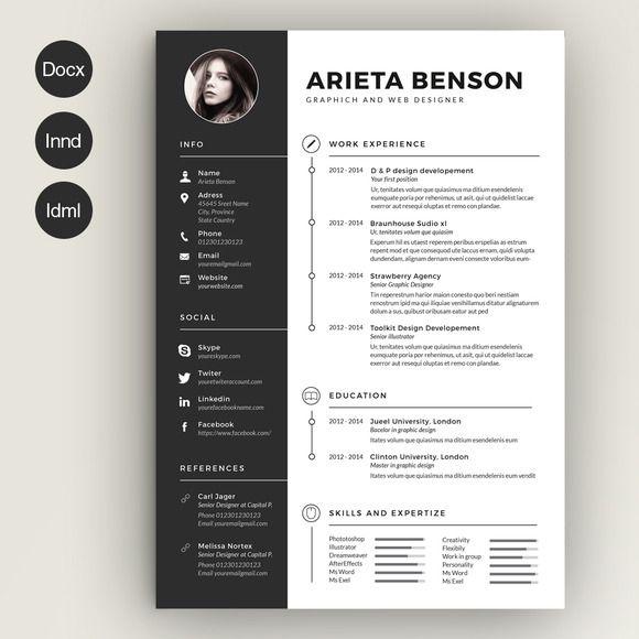 Clean Cv Resume Creative Resume Templates Graphic Design Resume Infographic Resume