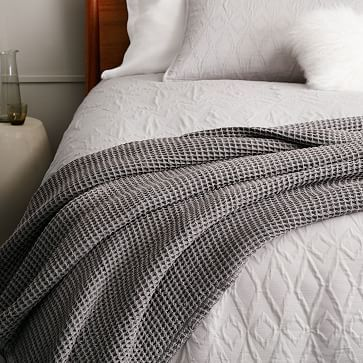 Stonewashed Waffle EndofBed Throw Westelm Bedroom Pinterest Fascinating End Of Bed Throw Blanket