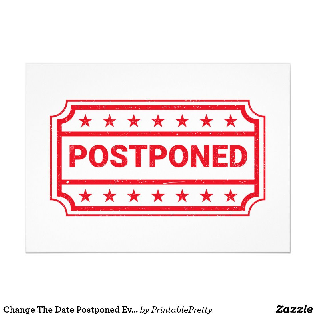 Change the date postponed event cancellation invitation