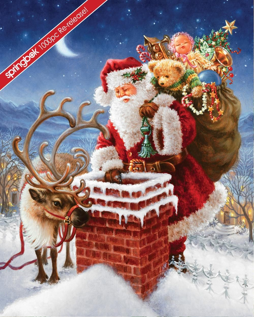 Special Delivery 1000pc Christmas Scenes Father Xmas Christmas Art