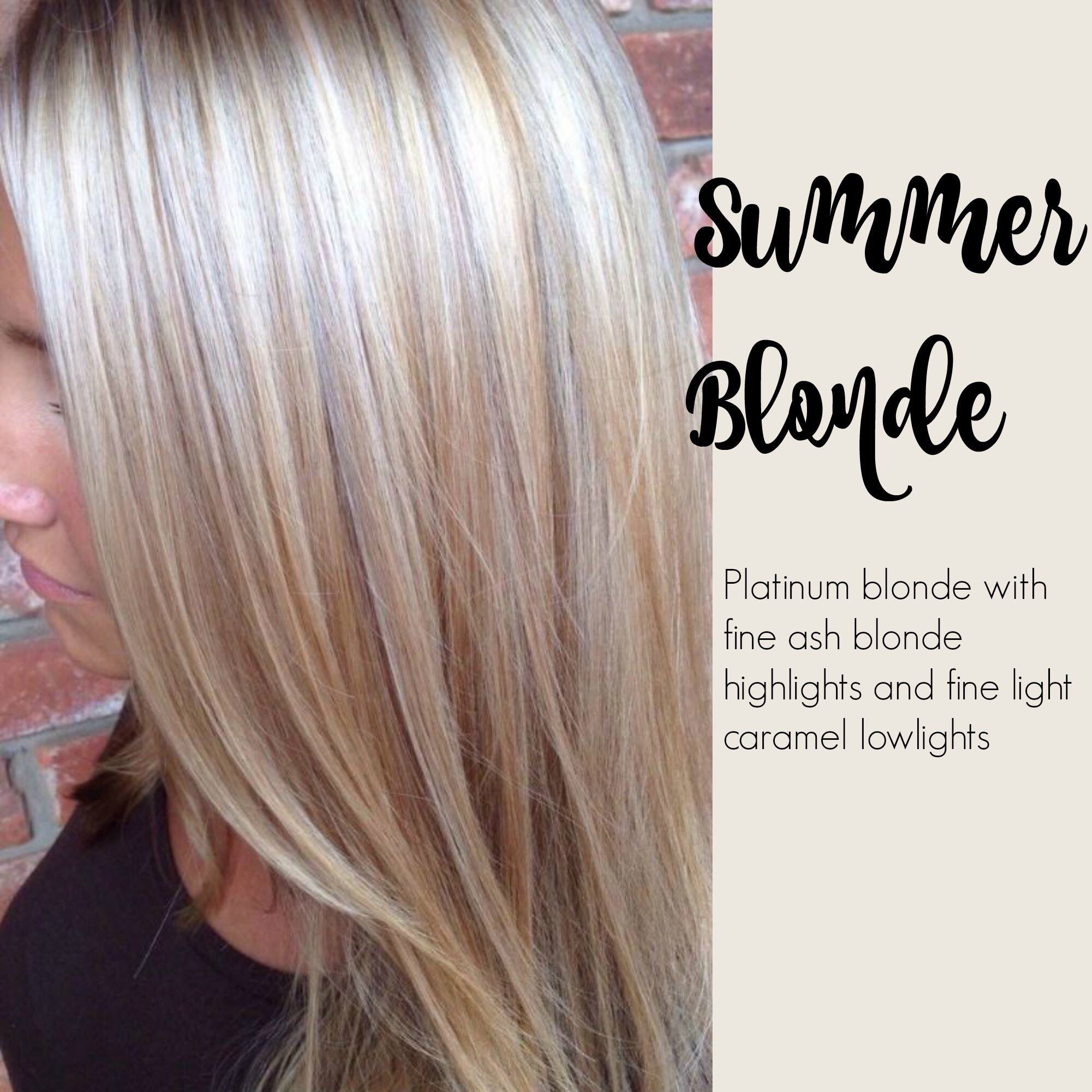 Summer Blonde Platinum Blonde With Fine Ash Blond Highlights And