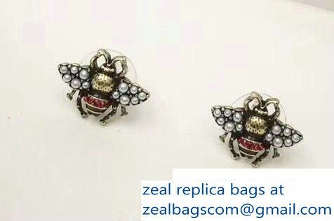 d6a061623ab Gucci Bee Earrings With Pearls
