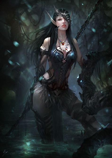 from Boden dark female elves nude