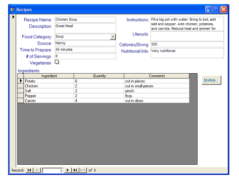 recipe collection database templates office com via http bit