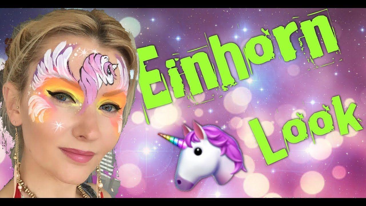 Glitzer Einhorn Schminken Anleitung Kinderschminken Unicorn