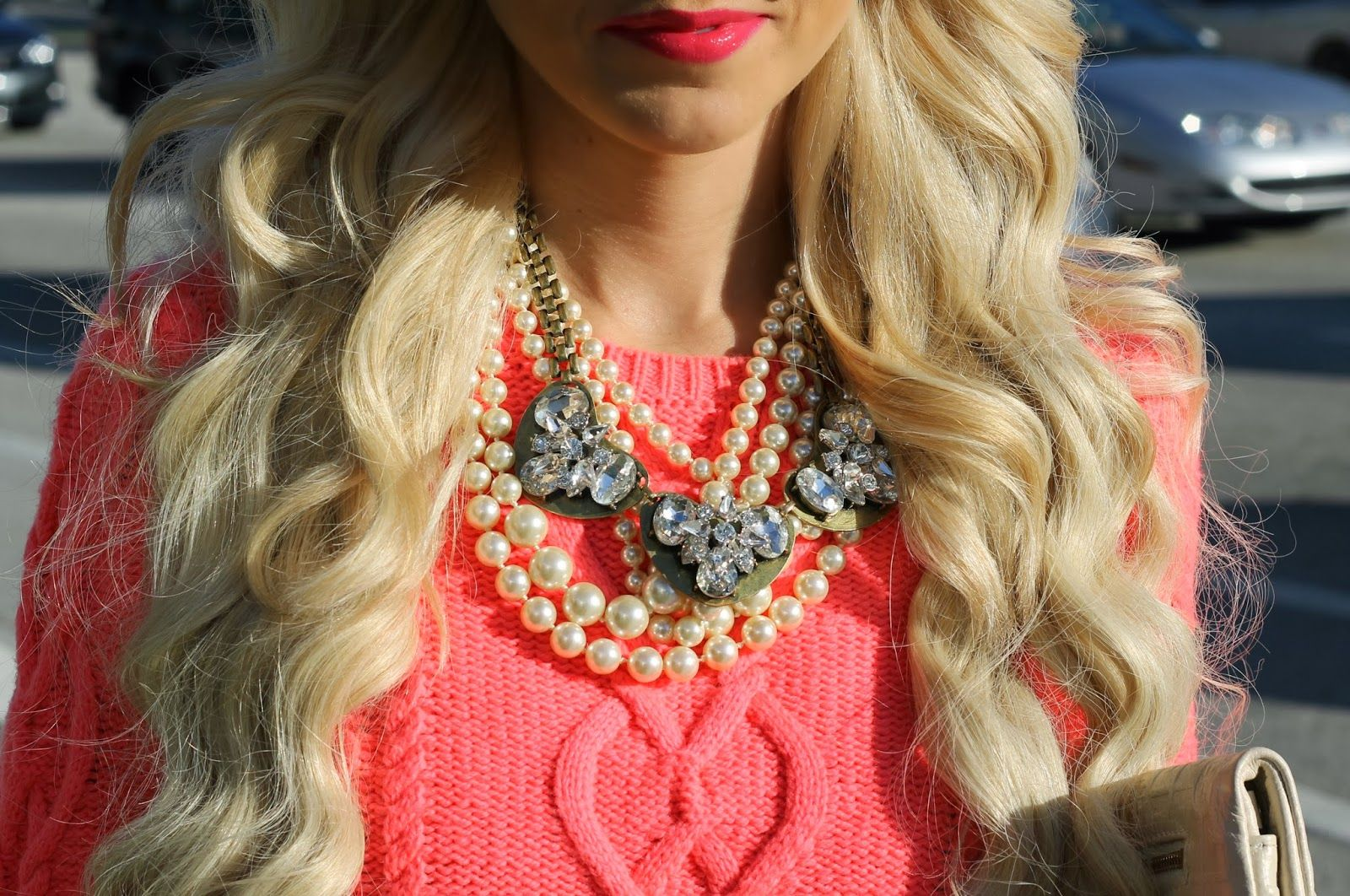 A Spoonful of Style wearing our Alyssa Heart Necklace! LOVE!