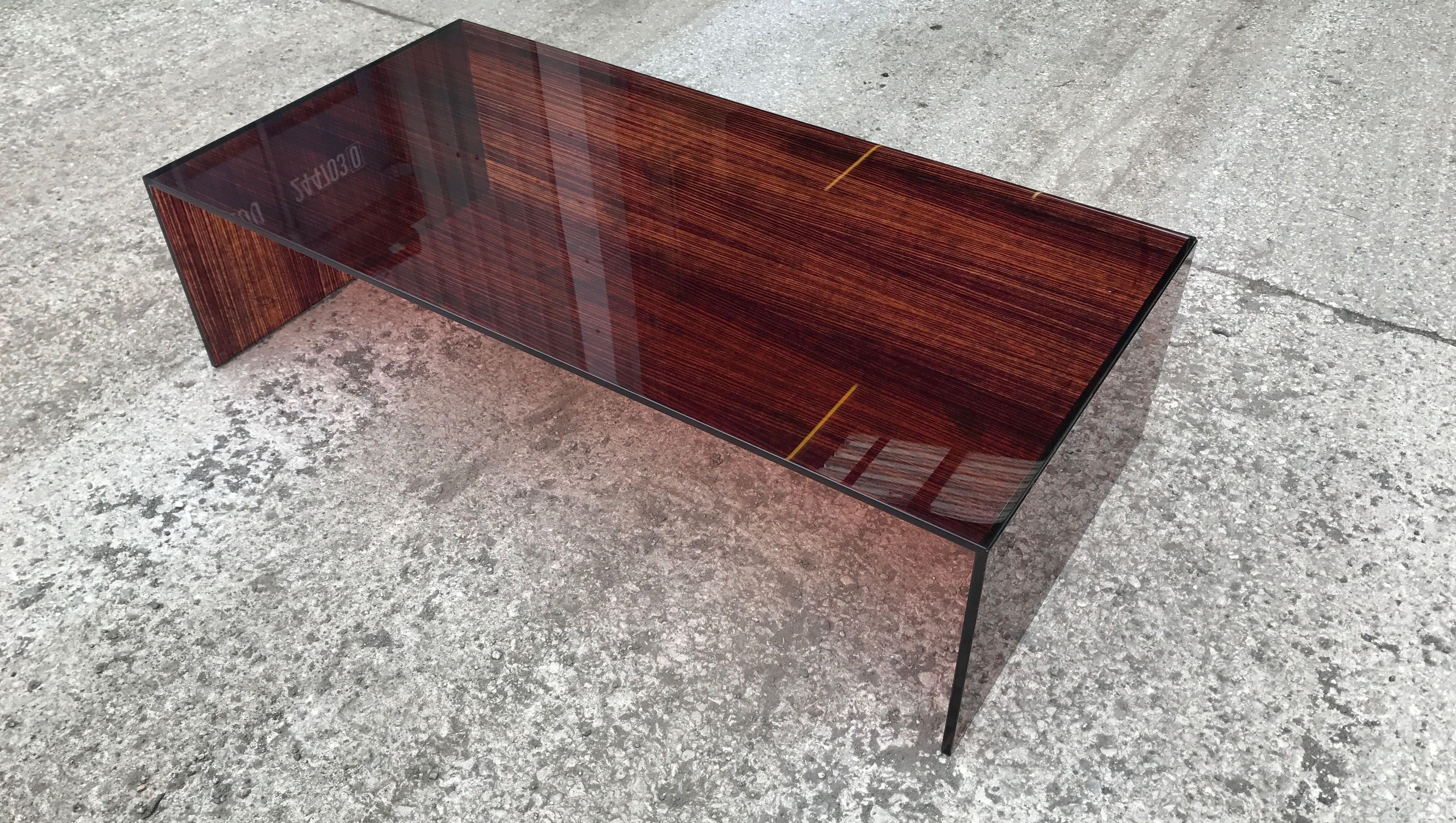 Woodgrain Printed Uv Bonded Coffee Table Glass Furniture Laminated Glass Coffee Table [ 2277 x 4029 Pixel ]