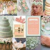 Wedding Inspiration Board | Minty Peachy Fresh