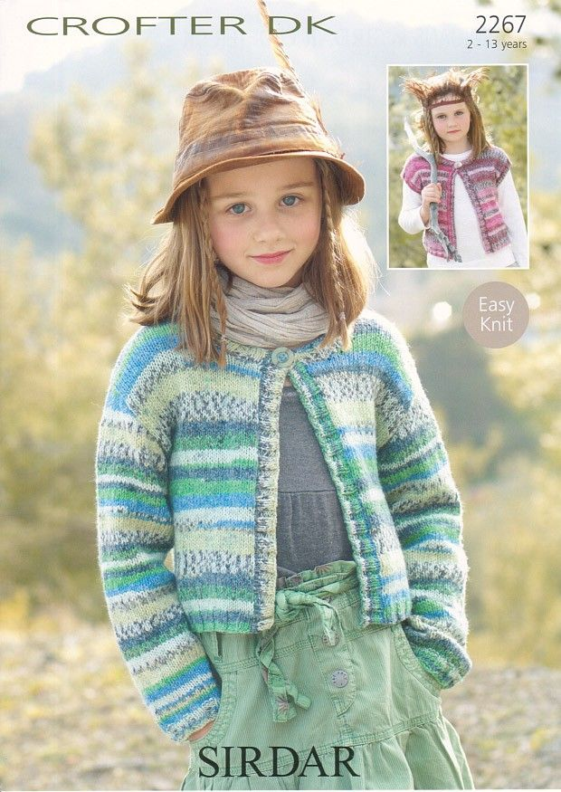 Cardigans In Sirdar Crofter Dk 2267 Childrens Knitting Patterns