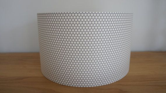 Handmade 30cm Drum Lampshade In Small Grey By