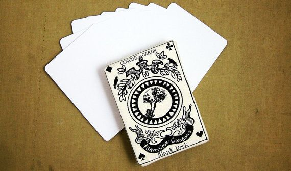 Blank Playing Cards or Artist Trading Cards by SilverCrow on Etsy, $5.25