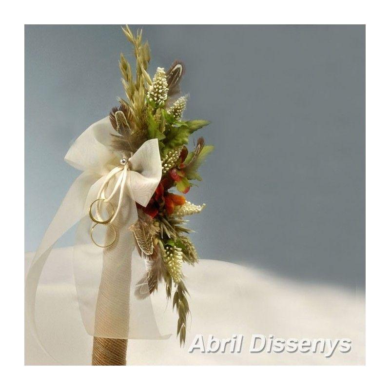 Cetro para las Arras de Boda con Flores Secas Un cetro es lo mas - flores secas