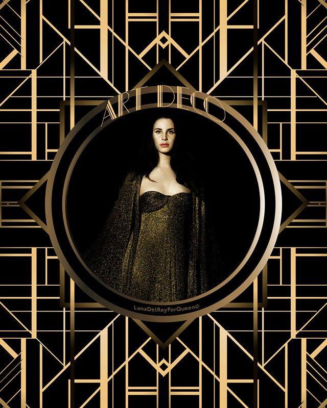 Lana Del Rey For Queen On Instagram Art Deco My Edit C Lanadelrey Honeymoon Artdeco Lana Del Rey Art Deco Art Prints For Home