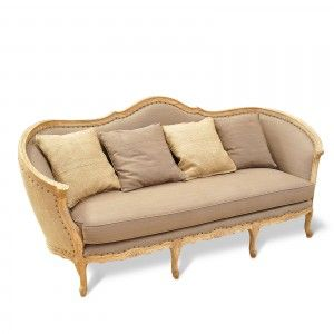 shabby chic romantique canap en tissu l215cm shabby chic mobilier suite. Black Bedroom Furniture Sets. Home Design Ideas