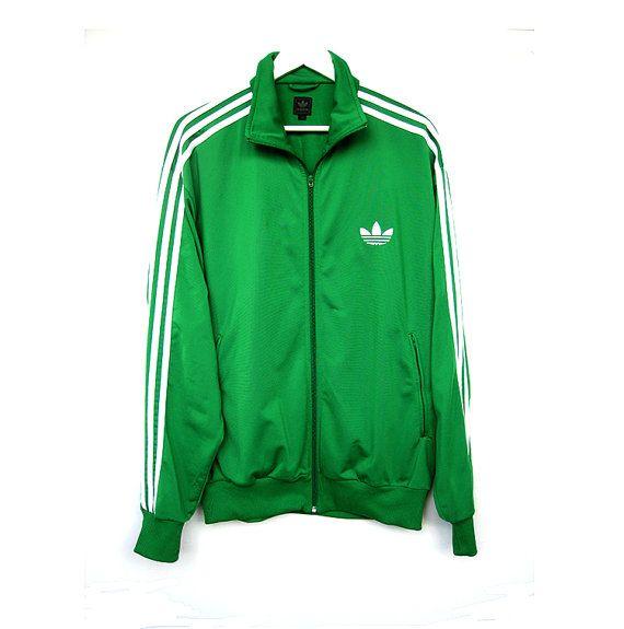 Vintage Green Adidas Sports Jacket XYtcJI