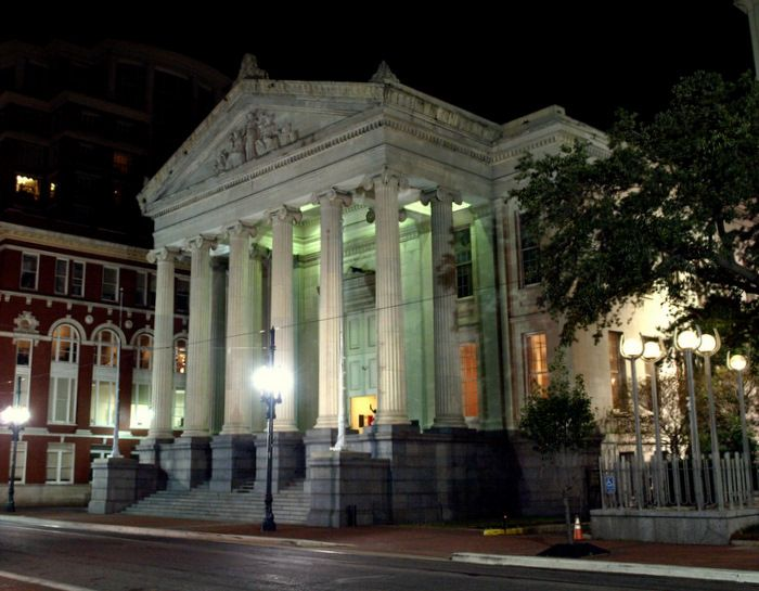 Gallier Hall On St Charles Avenue New Orleans