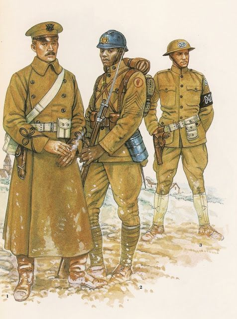 1 - Captain ,1918  2 - Regimental Suply Sergeant 371st