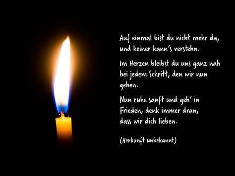 In der Dunkelheit der Trauer leuchten Lichter der Erinnerung