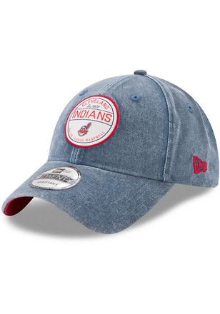 New Era Cleveland Indians Mens Navy Blue Retro Adjust 9twenty Adjustable Hat With Images Cleveland Indians Cleveland Indians Clothing Cleveland Indians Baseball