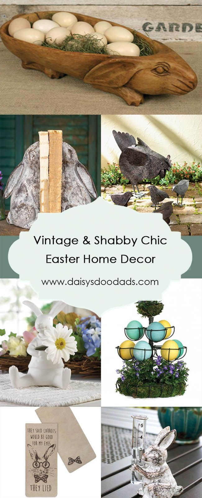 Vintage / Shabby Chic Easter Home Decor
