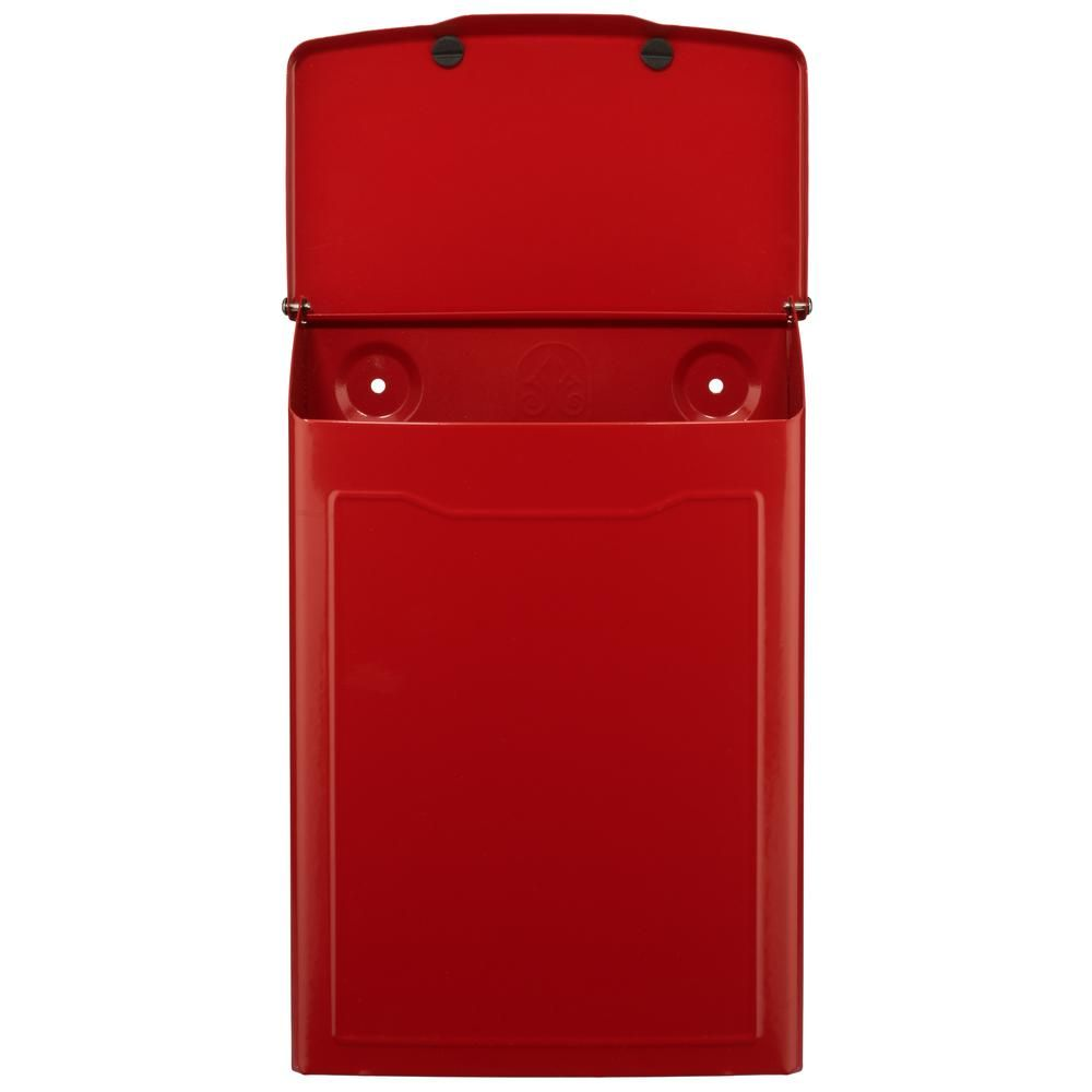 residential mailboxes wall mount. Architectural Mailboxes Marina Red Wall Mount Mailbox-2681R - The Home Depot Residential