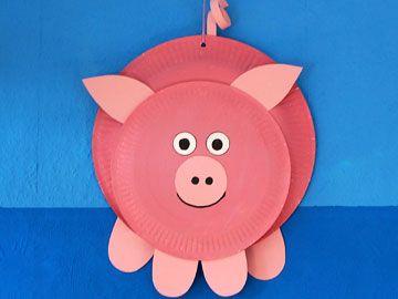 schweinchen pappteller tiere pinterest schweinchen pappteller und kita. Black Bedroom Furniture Sets. Home Design Ideas