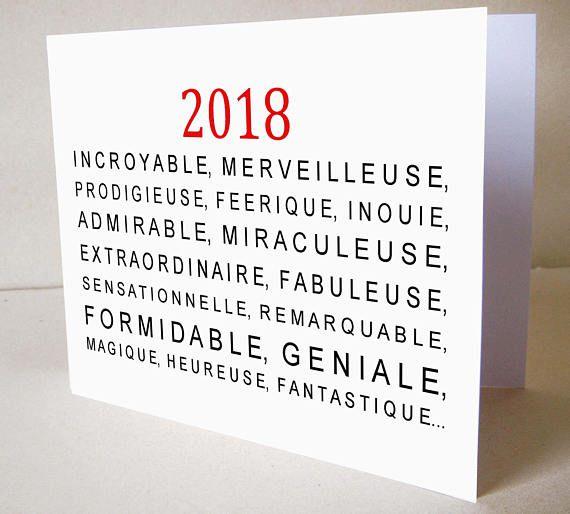 Favorit Carte de voeux nouvel an 2018 | noel | Pinterest | Carte de voeux  YO84