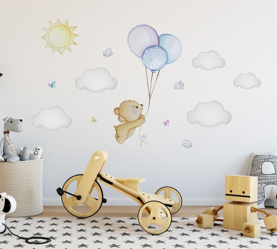 Dipinti Murali Per Camerette teddy bear wall decal pink nursery wall sticker bear nursery