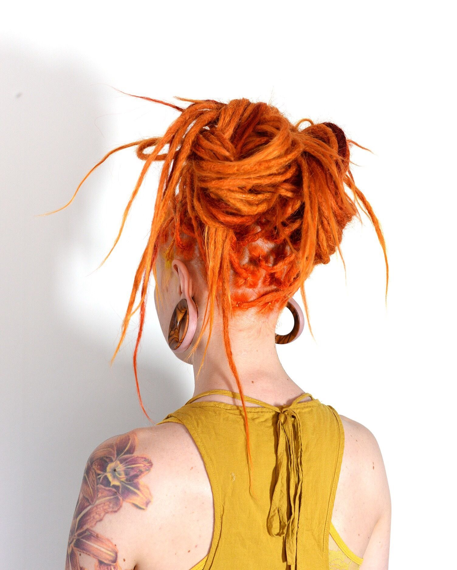 One more of my spontaneous dreadlock updos that i just love making