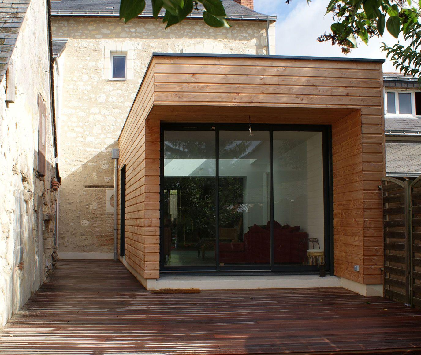 annuaire architectes avivre projet dialogue entre bois et tuffeau extension bois maison. Black Bedroom Furniture Sets. Home Design Ideas