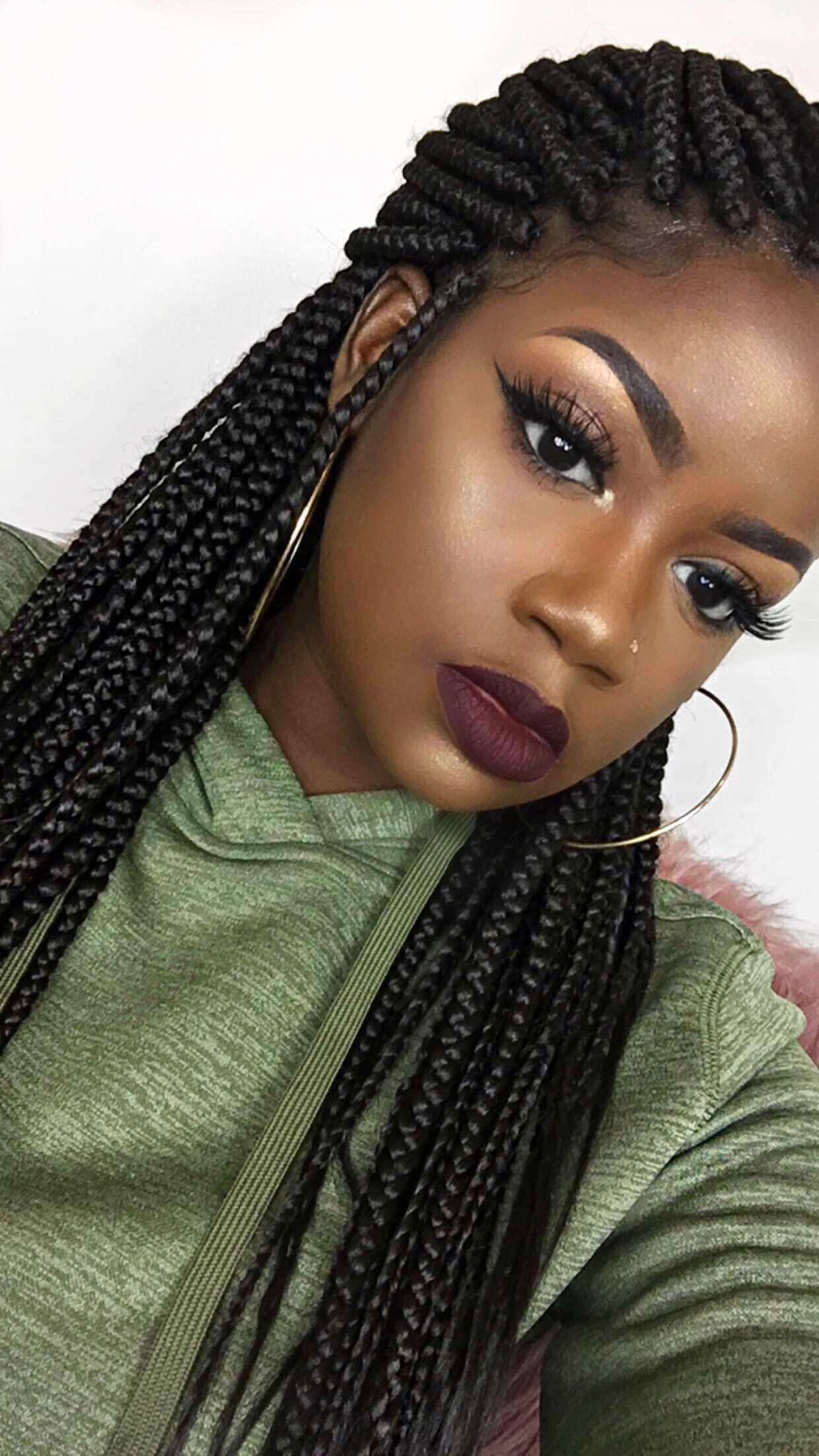 ig anicolec box braids black