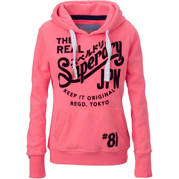 Superdry Hoodie 125 Found On Polyvore Hoodies Cool Outfits Red Hooded Sweatshirt
