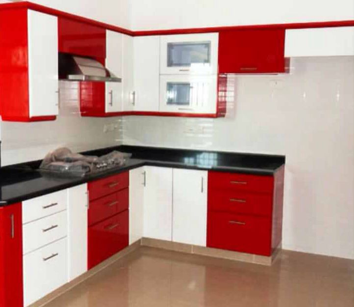 Black Red White Red And White Kitchen Cabinets Kitchen Design Small Kitchen Interior