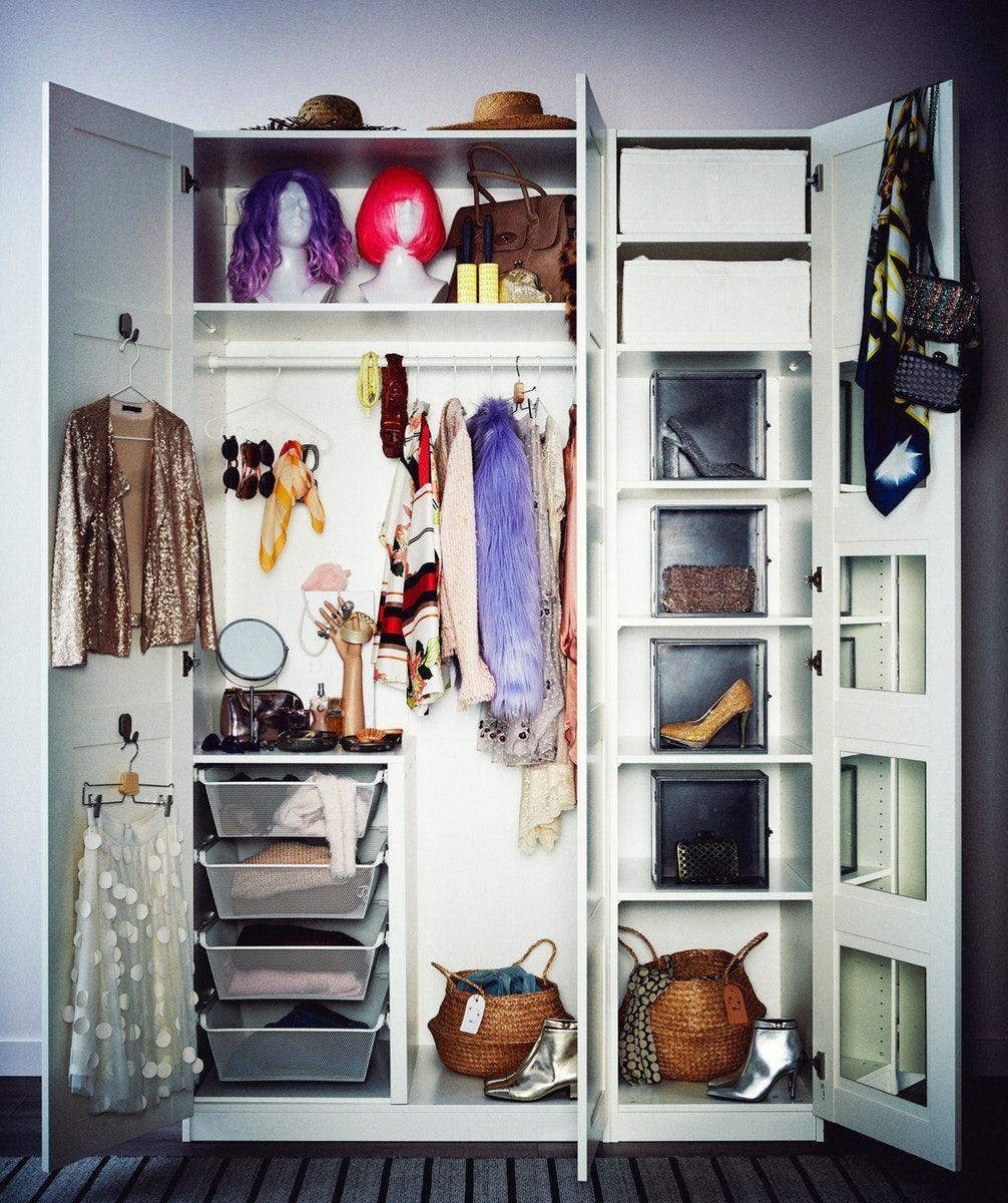 Pax Kledingkast Wit Bergsbo Wit 150x60x236 Cm Ikea Ikea Interior Storage Spaces Organizing Your Home