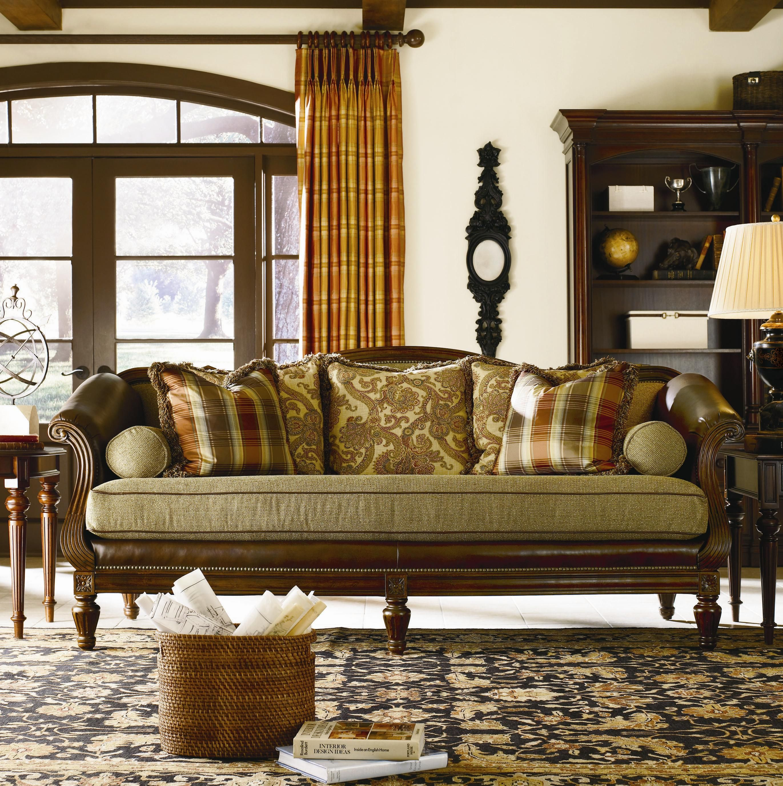 Blue U0026 Green With Brown Leather Furniture | Sofa Sets Living Room Set  Leather Fabric Sofas With Free Nyc And Nj | I Luv Home Decor!!!