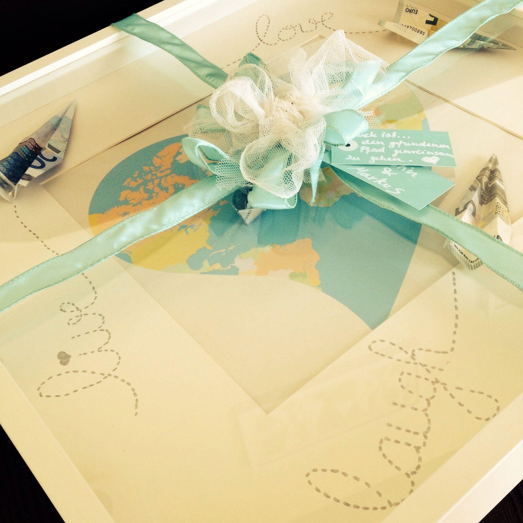 7 Diy Gastgeschenkideen Für Die Hochzeit Myprintcard: Eine Reise Mit Euren Münzen....#Geldgeschenk #Hochzeit