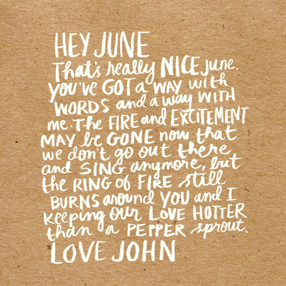 Words To Love By No   Love Letter From Johnny Cash To June