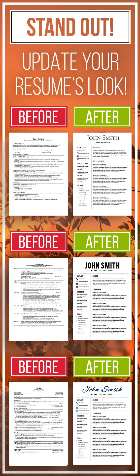 Microsoft Word Resume Templates including a Cover Letter and an Icon ...