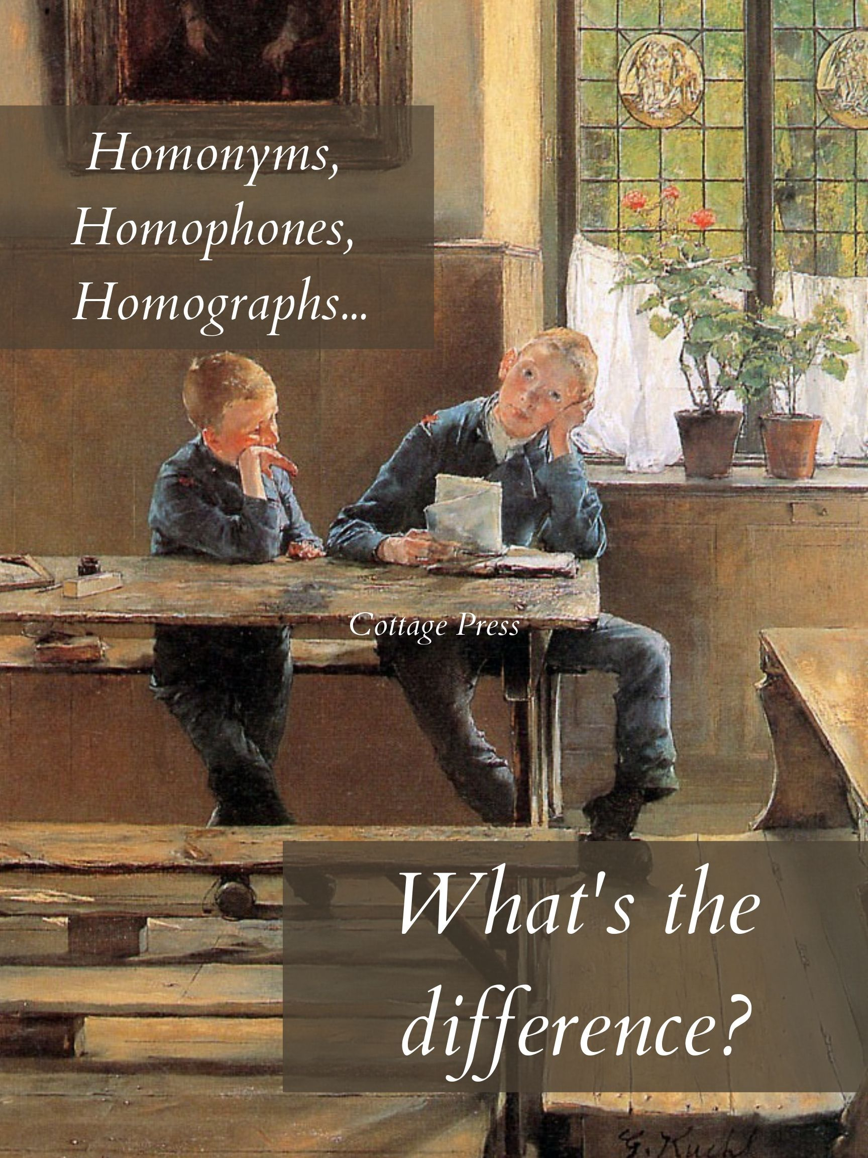 Homonyms Homophones And Homographs What S The