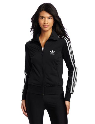 523eb4efe3e adidas Women's adi Firebird Track Top (Black, White, Small ...