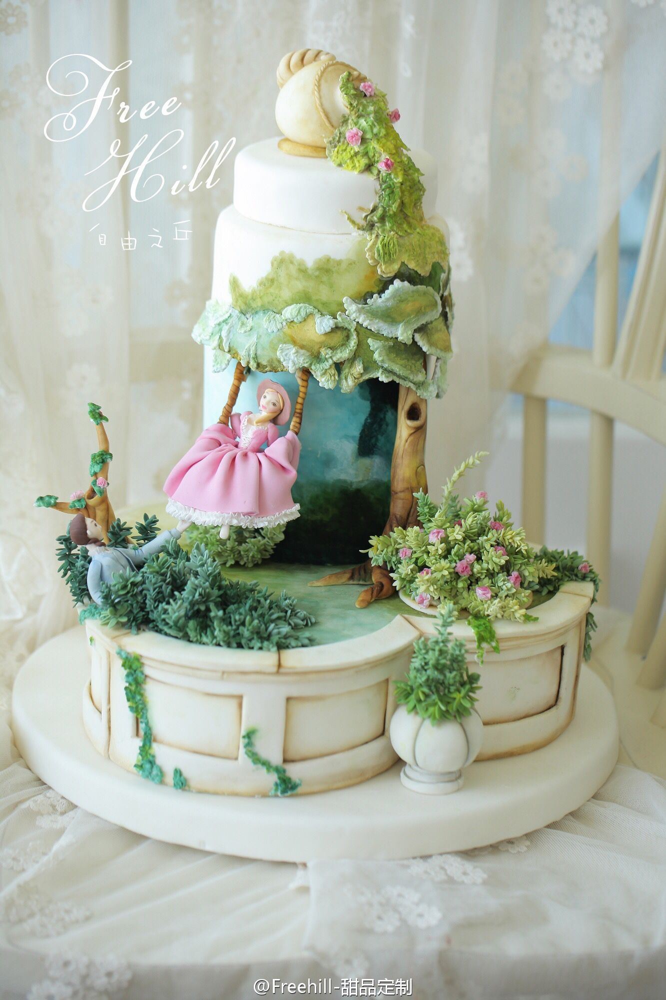 Pin by Sandy Findley on Cake | Artist cake, Garden cakes