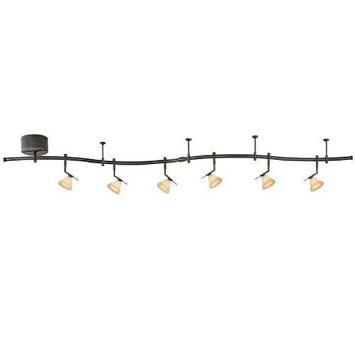 Gk Lightrail Sable Bronze Six Light Monorail Kit Monorail Packages Track Lighting Ceiling