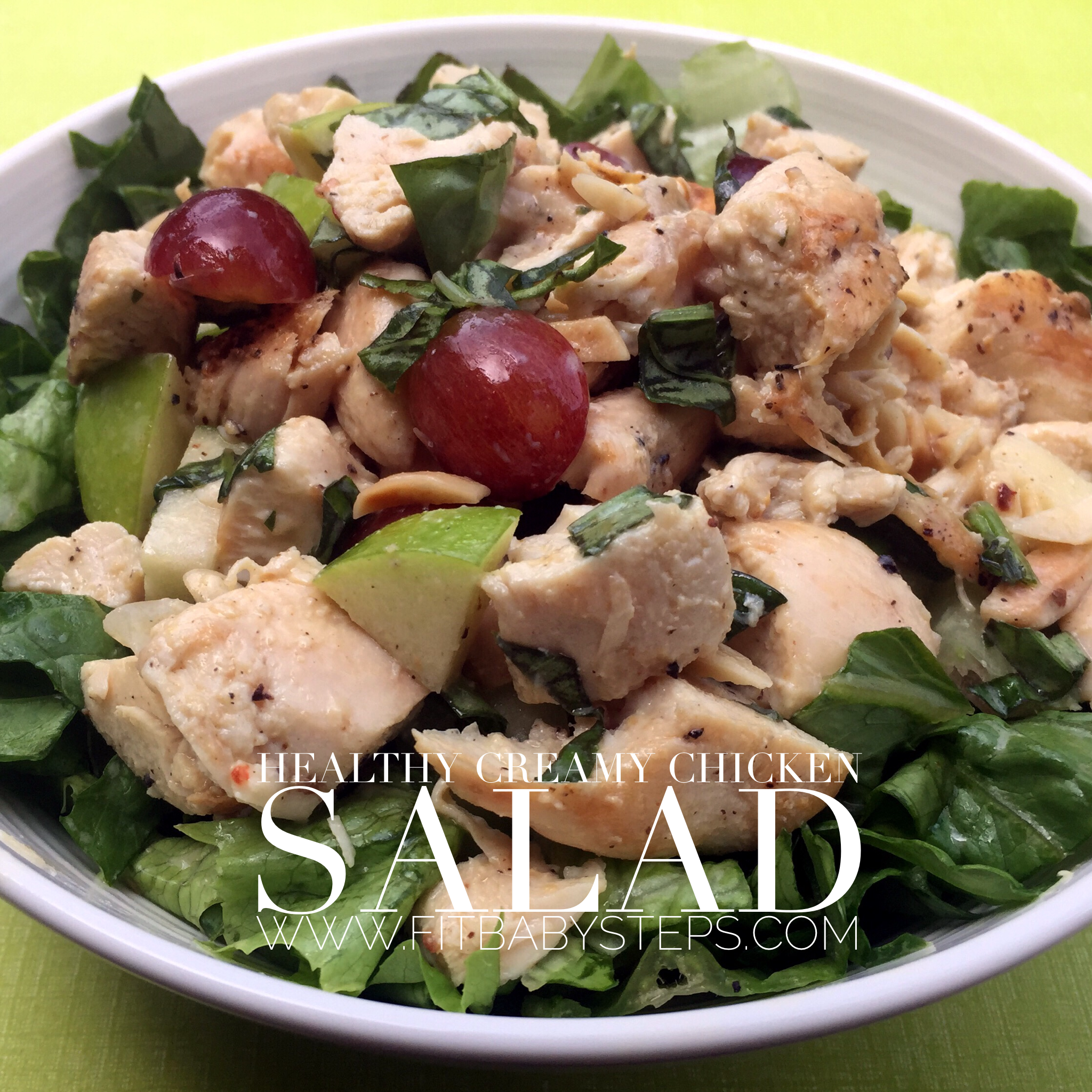 Salad With Grapes, Apples, Almonds And Chicken--I Just