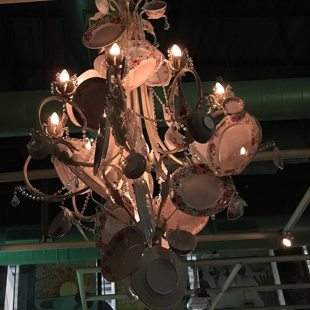 This is not plates arranged weirdly but this is a chandelier made this is not plates arranged weirdly but this is a chandelier made with plates i arubaitofo Images