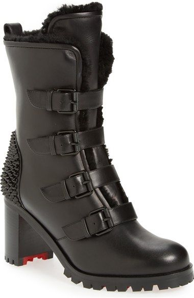 timeless design 19596 4af83 CHRISTIAN LOUBOUTIN 'Glorymount' Studded Buckle Boot ...