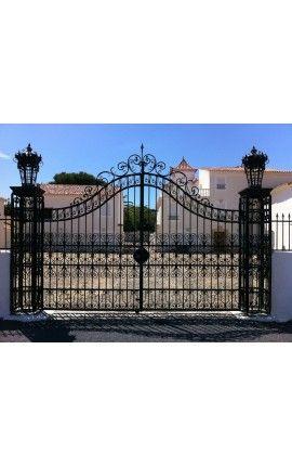 Portail de château, baroque, en fer forgé avec deux vantaux Portail ...