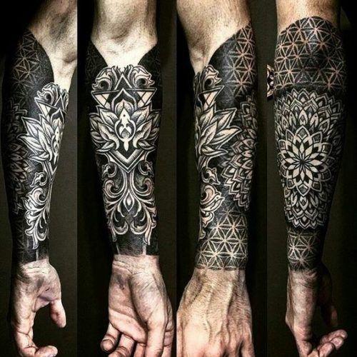 12 Tatuajes para hombres media manga
