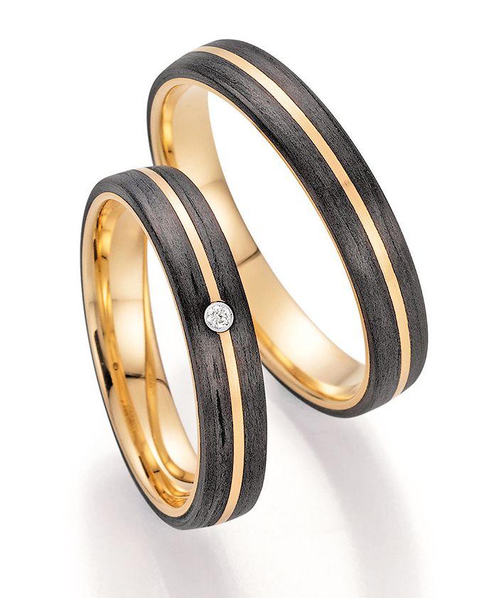 Trauringe Fischer Carbon Gold 22 01340 040