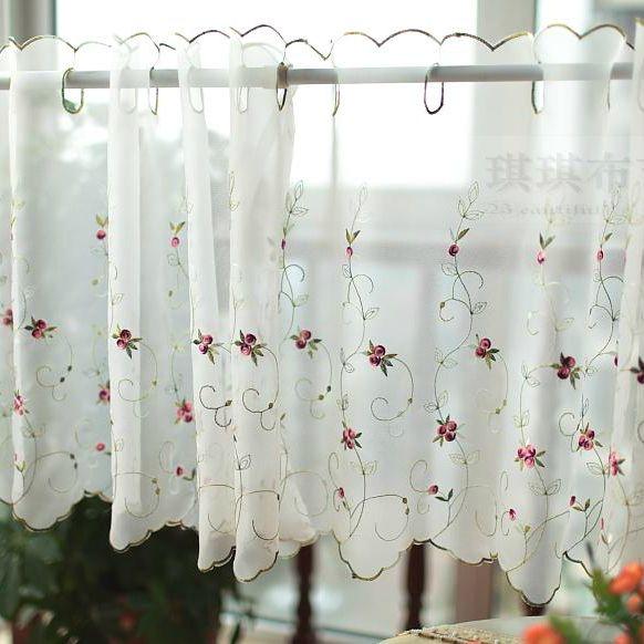 Cheap poco rosa pequeña cortina de café hermosa semi sombra ...