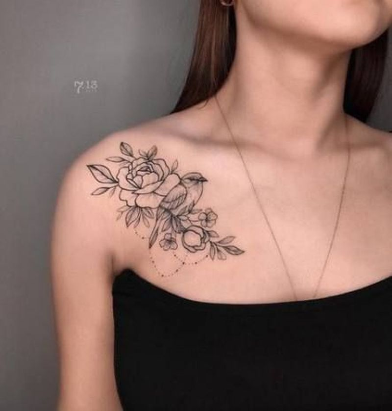 35 Cool Collar Bone Tattoo Ideas For Girls Shoulder Tattoos For Women Collar Bone Tattoo Tattoos